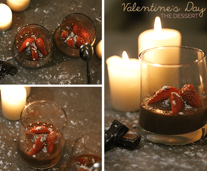 Valentine's Day dessert, romantic dinner ideas, easy and simple chocolate mousse, dessert recipe with two ingredients, chocolate mousse recipe