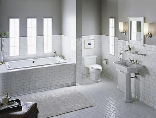 White Subway Tile Bathroom Ideas and Pictures on Bathroom Ideas Subway Tile  id=74645