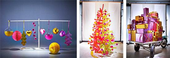 Decoración de Navidad kitsch.