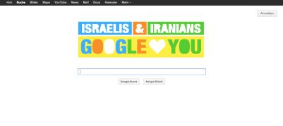 Google loves Israelis and Iranians