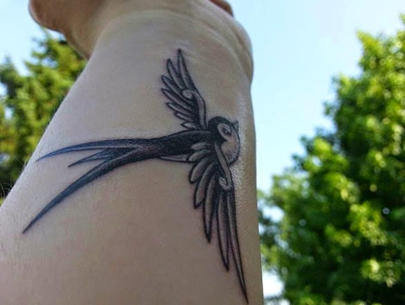 sparrow wrist tattoo ideas