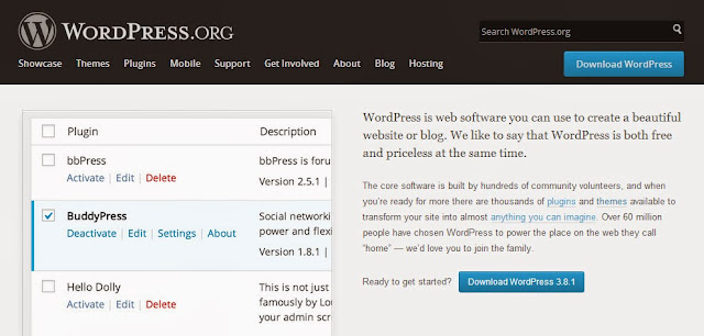 Homepage WordPress.com