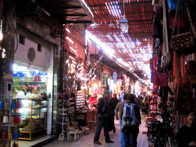 The entrance to the Moroccan souk.