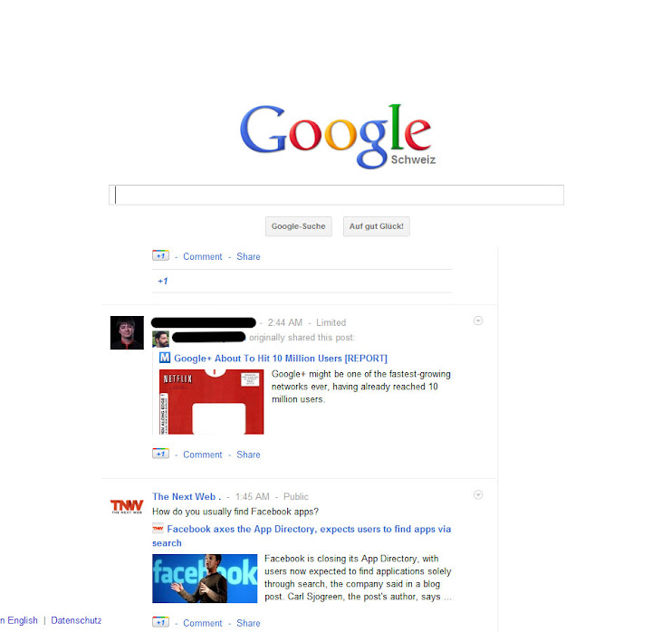 Google and google+ combined