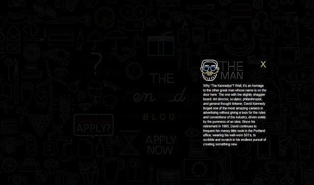 *充滿霓虹燈元素的網站:The Kennedys Web Site 3