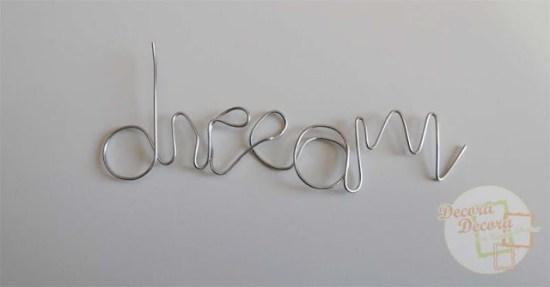 Cómo hacer palabras con alambre.