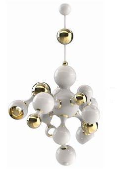 Lámpara de bolas.