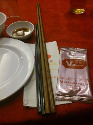 Beware, these chopsticks have a long reach