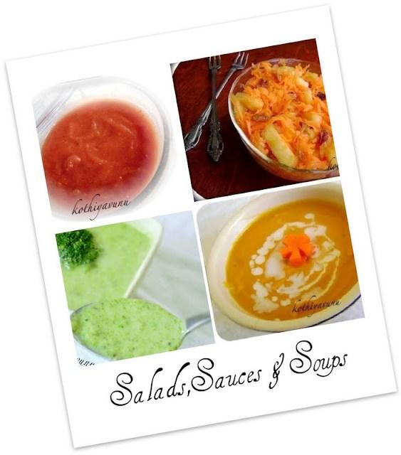 Veg-Recipes -Salad and Soups |kothiyavunu.com