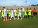 Début du match entre l'As.V Club (vert noire) de la RDC contre Zamālek (blanc) de l'Egypte à la première mi-temps le 18/05/2014 au stade Tata Raphael à Kinshasa, dans le cadre de la ligue des champions 2014 de la CAF. Radio Okapi/Ph. John Bompengo
