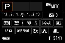 EOS M 撮影時のメニュー