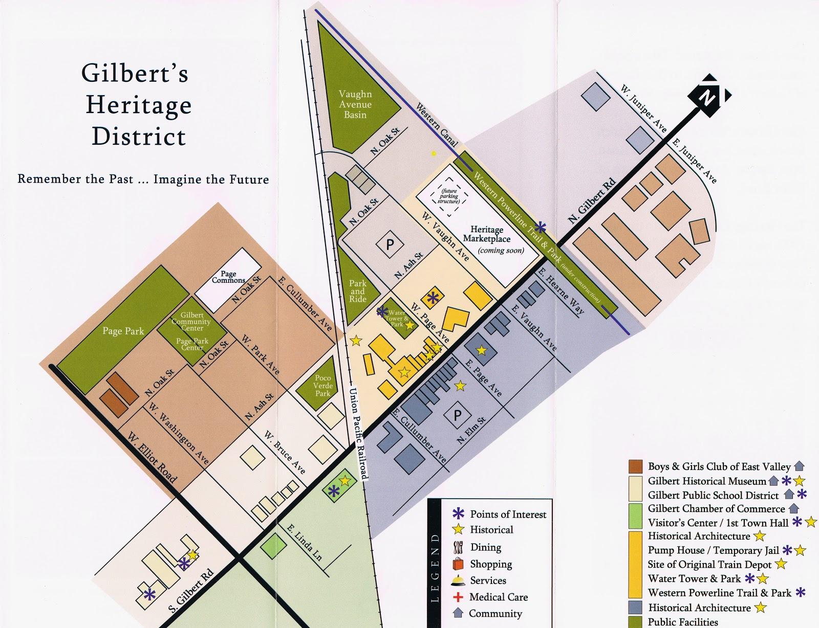 Downtown gilbert heritage district phoenix az real estate 480721 downtown gilbert heritage district map fandeluxe Image collections