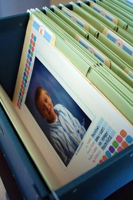 school paper storage