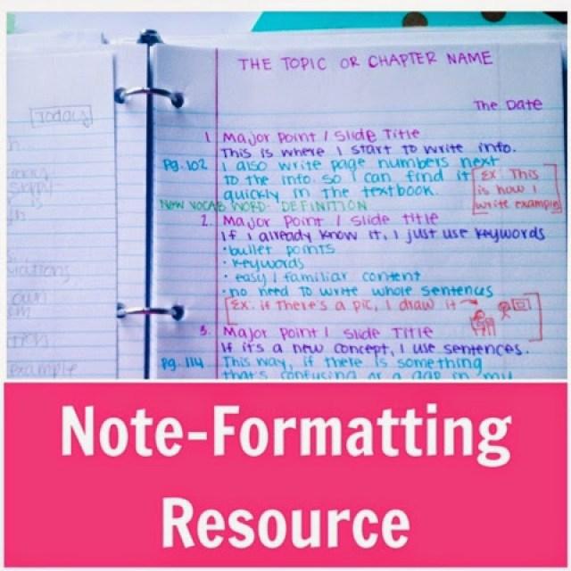 Organized Notes Ideas
