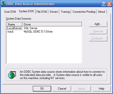 ODBC ADd