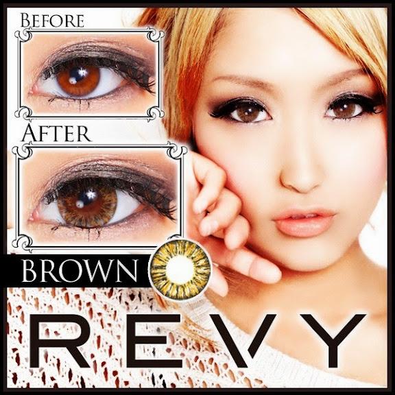 グラムカラコン REVY(レヴィ)度あり&度なしカラコン ブラウン 茶コン 商品画像