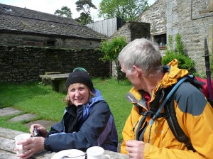 Enjoying a tea stop at Keld