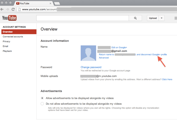 How to unlink your new YouTube channel from a Google+ Profile
