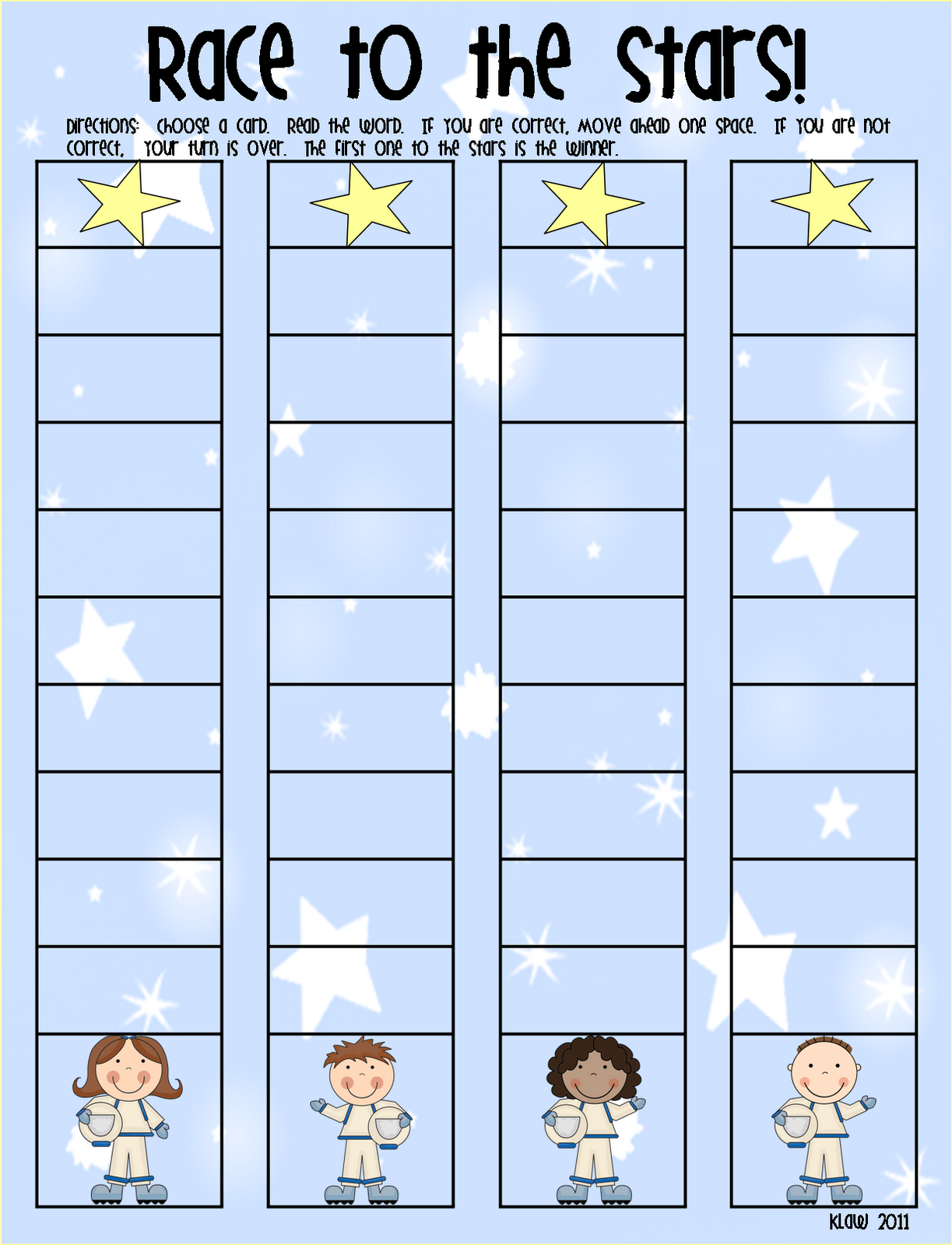 First Grade A La Carte Race To The Stars