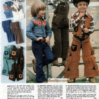 Info 5: 1970s catalogue boys cowboy clothes chaps