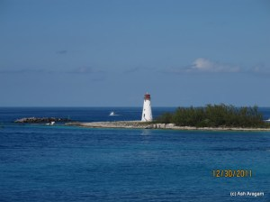Arriving at Nassau, Bahamas
