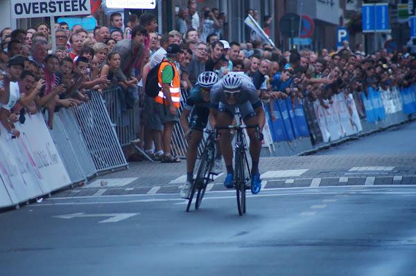 sprint tussen Kittel en Trentin