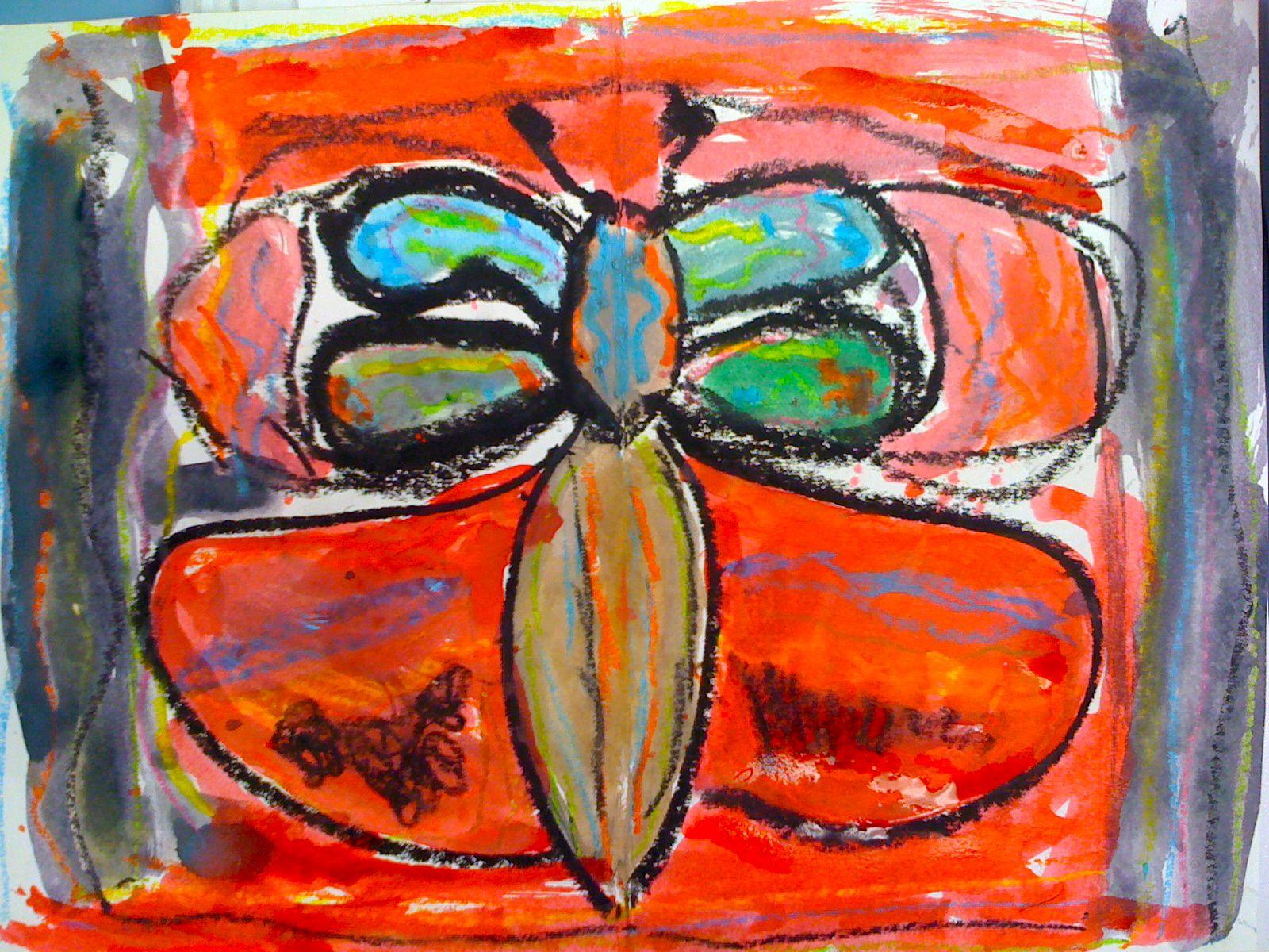 Kids Art Market Symmetrical Butterflies With Andy Warhol