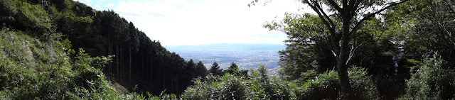 Panoramic view from Mount Hiei