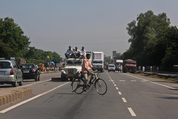 crazy Indian roads Rajasthan