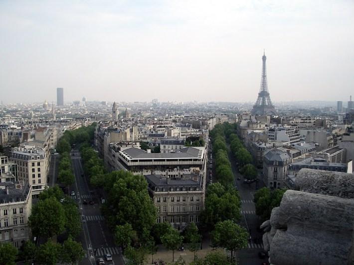 Qué ver en París en un fin de semana; Vistas desde el Arco del Triunfo