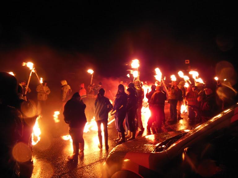 Up Helly Aa festival in Cullivoe, Shetland