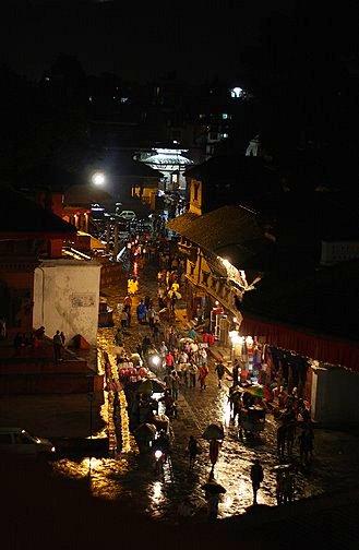 durbar square at night