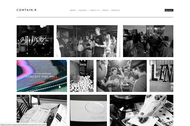 *充滿雜訊效果的灰色時尚:Contain.r Web Site 4