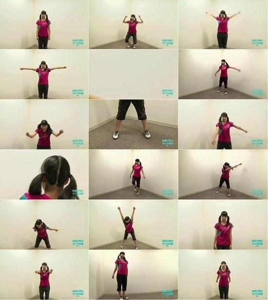 (TV-Variety)(720p) YNN [NMB48チャンネル] りぃちゃん24時間テレビ2014「加藤夕夏のラジオ体操第2」 150330