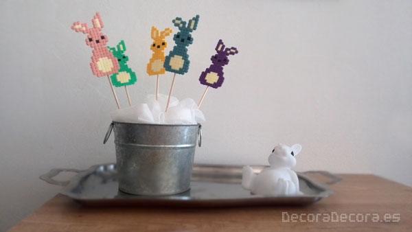 Idea para decorar en Pascua con Hama Beads