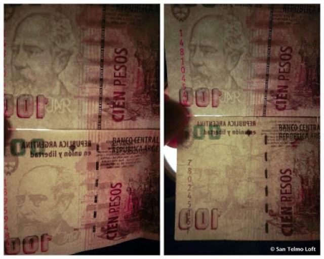 Fake Argentine Pesos Watermarks