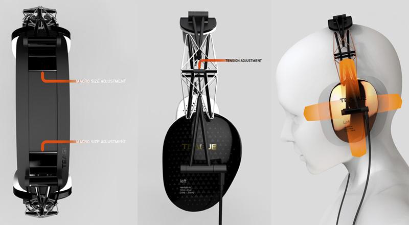 *TEAGUE:「20/20 Concept headphone」 支架概念耳機 4