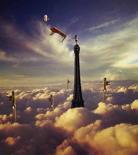 Tutorial menari diatas langit dengan photoshop