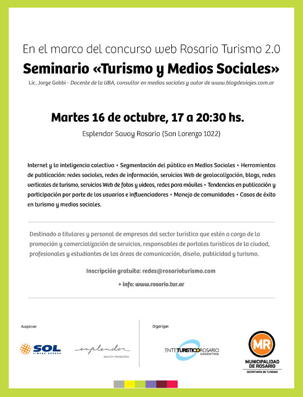 Turismo y medios sociales en Rosario, Santa Fe, Argentina