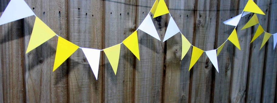 Tuesday's Resourceful Little Idea: DIY Recycled Paper Bunting (2/6)