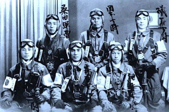 Kamikazes japoneses.