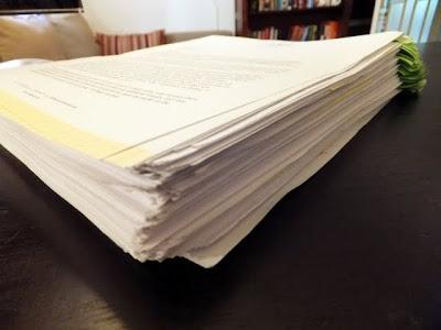 Picture of my copyedited manuscript.