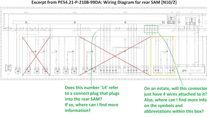 help with wiring diagram / intermittent rear lights problem