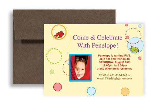 birthday card for 5 year girl card
