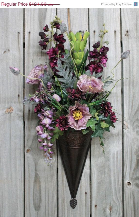 DIY Floral Wall Sconce For Spring And Summer Decor - Home ... on Flower Wall Sconces id=14273