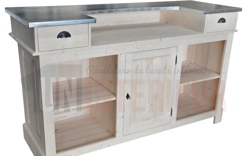 Meuble Cuisine Table Bar Comptoir Meuble