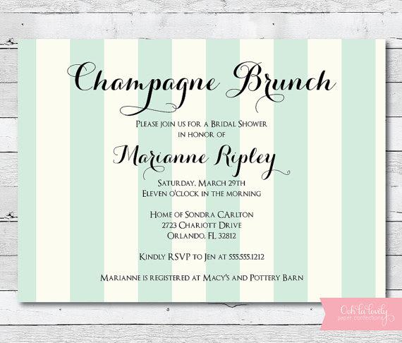 engagement brunch invitations