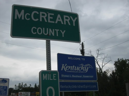 Kaintuckeean NoD McCreary County From Mile Marker 0