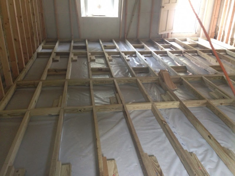 How To Get Shed Wood Floor Joists Over Concrete Slab