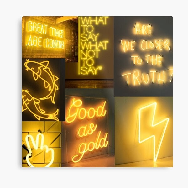 Hd wallpapers and background images Yellow Aesthetic Wallpaper Collage Neon - Juventu dugtleon